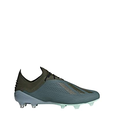 adidas X 18.1 Firm Ground Cleat - Men s Soccer 8 Raw Green Night Cargo  c1b88e0ee