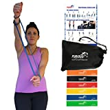 Resistance Loop Bands (Full Set of 6) with Carry Bag & Instruction Guide - Perfect Mini Loops for Gym Exercise, Yoga, Pilates, Crossfit, Physical Therapy and Sports Fitness Workouts