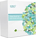 EZGO 100pcs Deep Cleaning Teeth Wipes Finger Brush Teeth Wipes Oral Brush Ups Mint Flavor