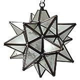 Moravian Star Pendant Light, Antique Mirrored Glass, 12''