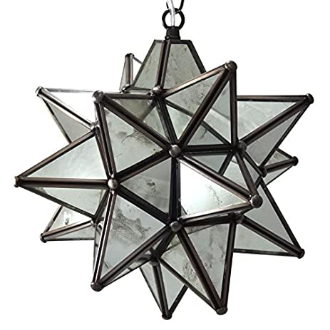 Moravian Star Pendant Light  Antique Mirrored Glass  12 quot Amazon com  Moravian Star Pendant Light  Antique Mirrored Glass  . Moravian Star Pendant Light Fixture. Home Design Ideas