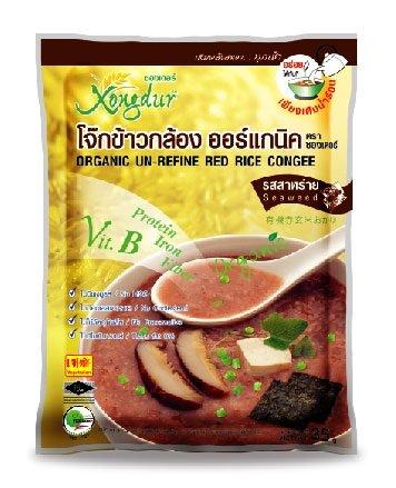 Xongdur Organic Un-Refined Red Rice Congee : Seaweed Flavor (Pack of 5)