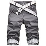 S&S Men's Summer Korean Slim Fit Various Colors Mid-waisted Capri Pants Junior Pants