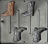 Cowboy Boot Lollipop Chocolate Candy Mold 3342