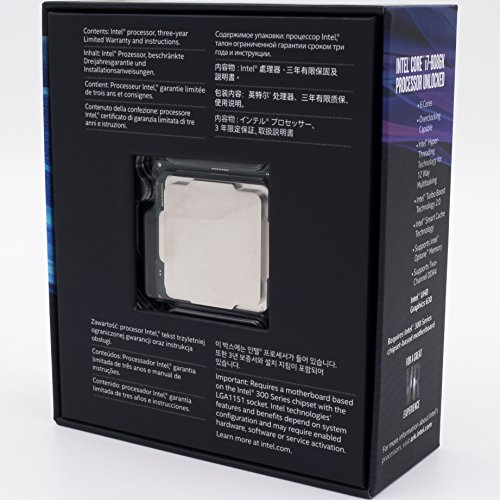 Intel Core i7-8086K Desktop Processor 6 Cores up to 5.0 GHz unlocked LGA 1151 300 Series 95W