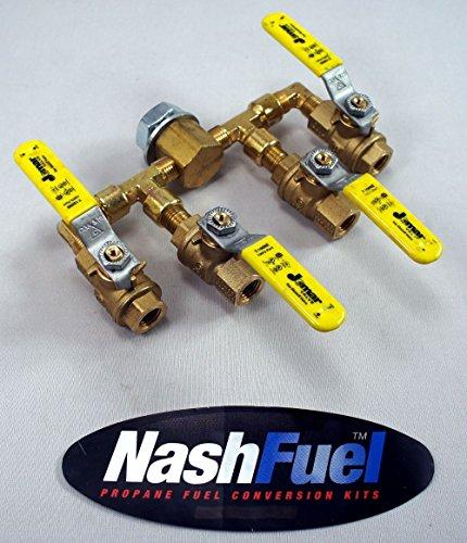 4 Way High Pressure Propane Manifold Ball Valve Lock Off Liquid Vapor 1/4 NPT Propane Manifold