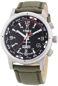 Timex Men's T2N726 Intelligent Quartz Adventure Series Compass Olive Green Strap Watch