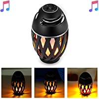 Led Speakers Bluetooth NiceHyacinth Torch Light Bluetooth Speakers Outdoor Portable Stereo Bluetooth Speaker with HD Audio and Enhanced Bass LED Flickers Warm Lights BT4.2 for iPhone iPad Android