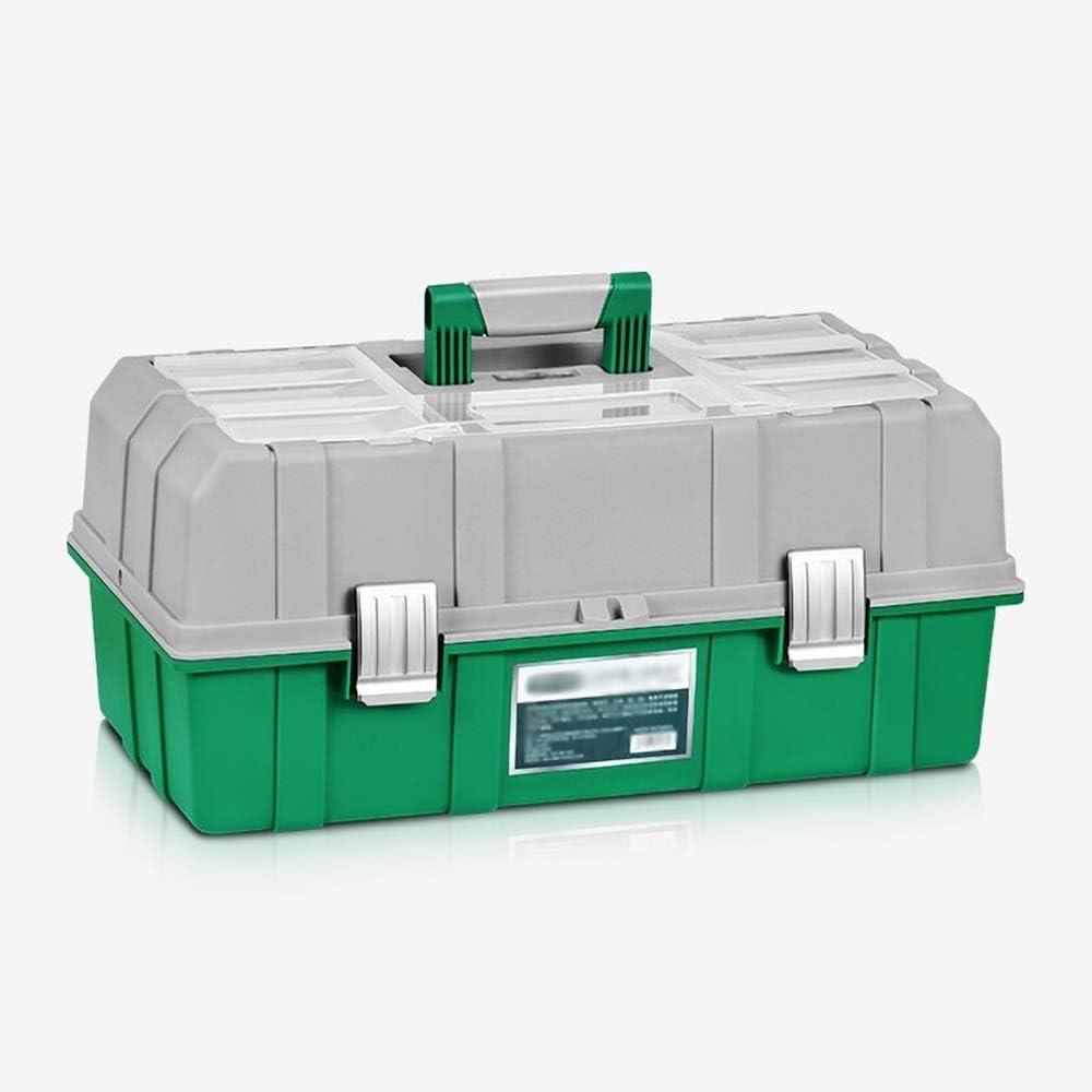 JU FU Caja de instrumento Caja de almacenamiento de herramientas: caja de almacenamiento de herramientas de reparación de piezas de la maleta portátil del coche de selección de familia plegable de tre: