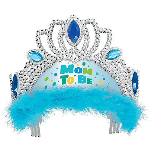 Blue Mom to Be Baby Shower Tiara ()