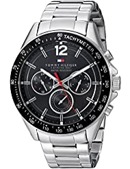 Tommy Hilfiger Mens 1791104 Sophisticated Sport Analog Display Quartz Silver Watch