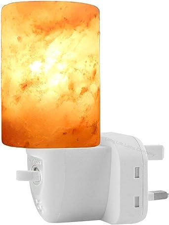 Lámpara de piedra salada cilíndrica larga, purificador de aire ...