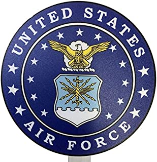 product image for United States Air Force Printed Resin Grave Marker, Full Color Design, USAF Cemetery Memorial Flag Holder, Veteran Plaque, Made in USA