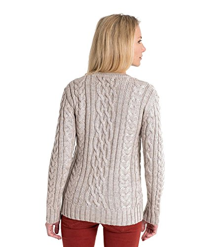 Wool Maille Oatmeal Femme Overs Laine Irlandaise en Pull Pure CqnPv4rwCx