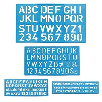 Amazon.com : 1 X Letter and Number Stencil Sets - Sizes 8, 10, 20 ...