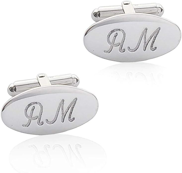 in argento Sterling 925 personalizzati a forma di lettera Gemelli da uomo