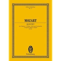 Quintet A-Dur: KV 581. Klarinette, 2 Violinen, Viola und Violoncello. Studienpartitur. (Eulenburg Studienpartituren)