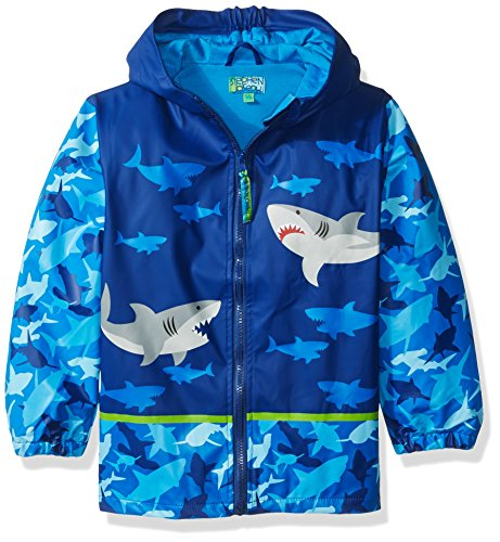 Stephen Joseph Rain Coat, Shark, 5/6 (Raincoat Patterned)