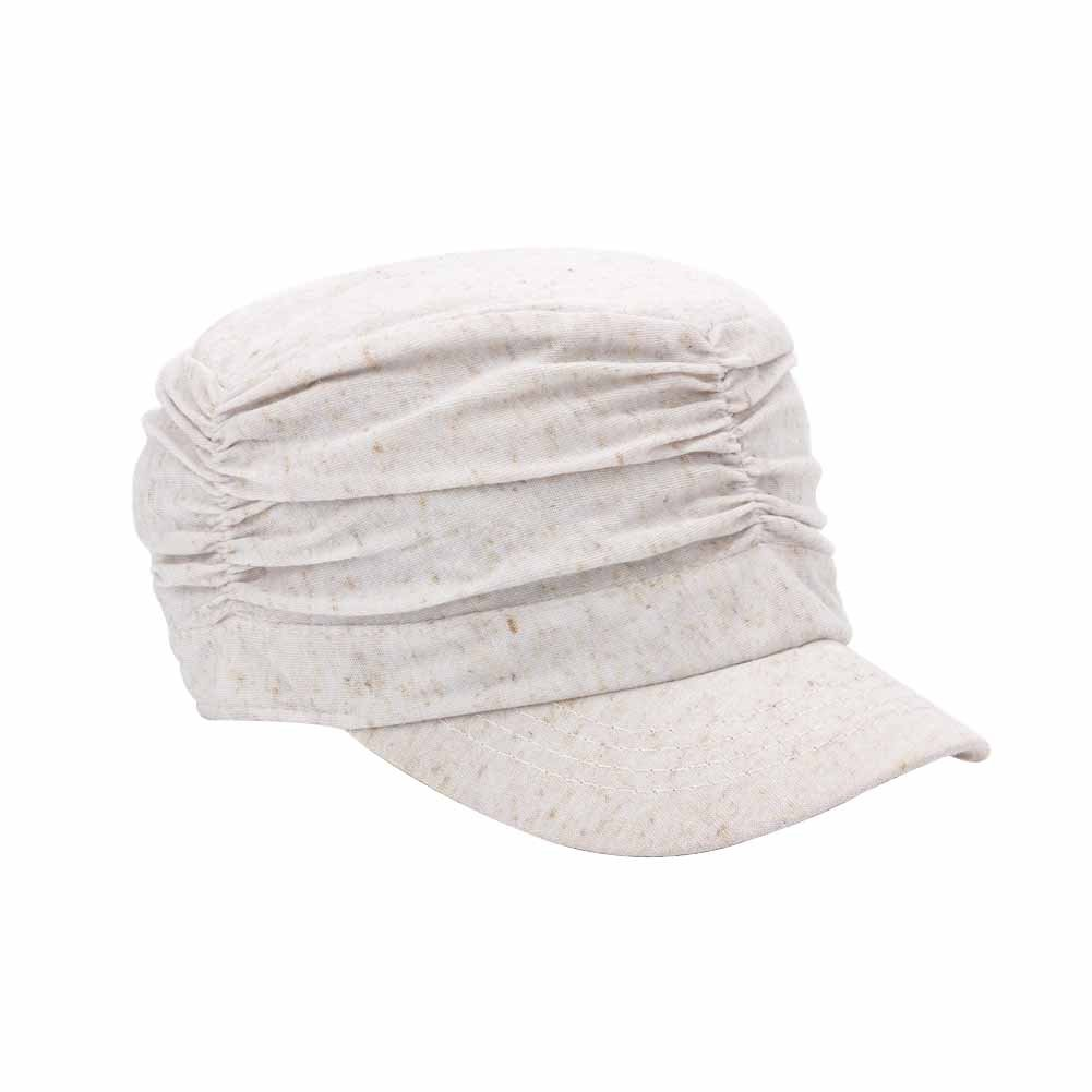 Q& Y Yq Women's Crinkly Military Hats Cadet Slouchy Crown