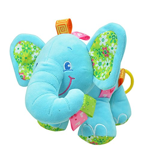 Elephant Doll Pull Music Stuffed Plush Toy Blue by V Convey