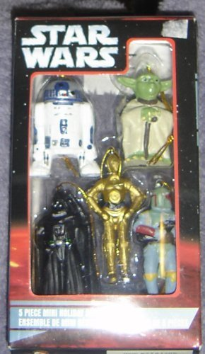 (Star Wars 5 piece Mini Holiday Ornament Set)
