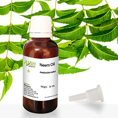 Allin Exporters Neem Oil 30 ML – Wild Crafted Pure Cold Pressed Unrefined – 100% Pure