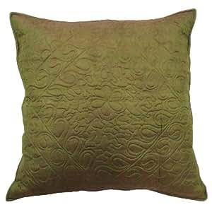 """Verde Almohada Cubierta de seda Blend Cojín 60 Cm decorativo abstracto Diseño Funda de almohada 24 """" Regalo"""