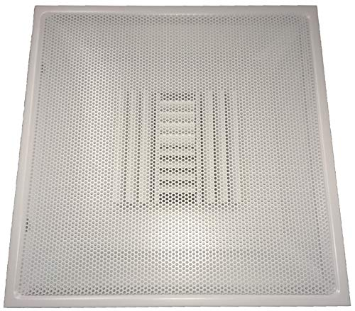 Speedi-Grille TB-PAB 08 24-Inch x 24-Inch White Drop Ceiling T-Bar Perforated Face Air Vent Register with 8-Inch Collar ()