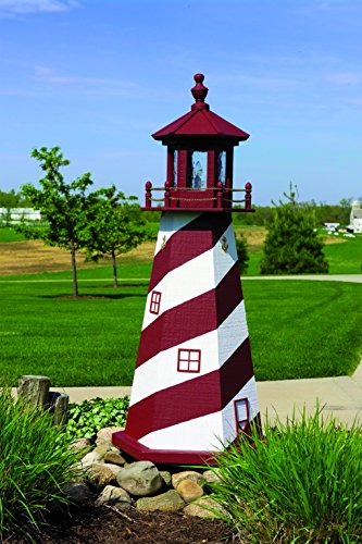 4' Lighthouse - Cape Hatteras (White/Red)