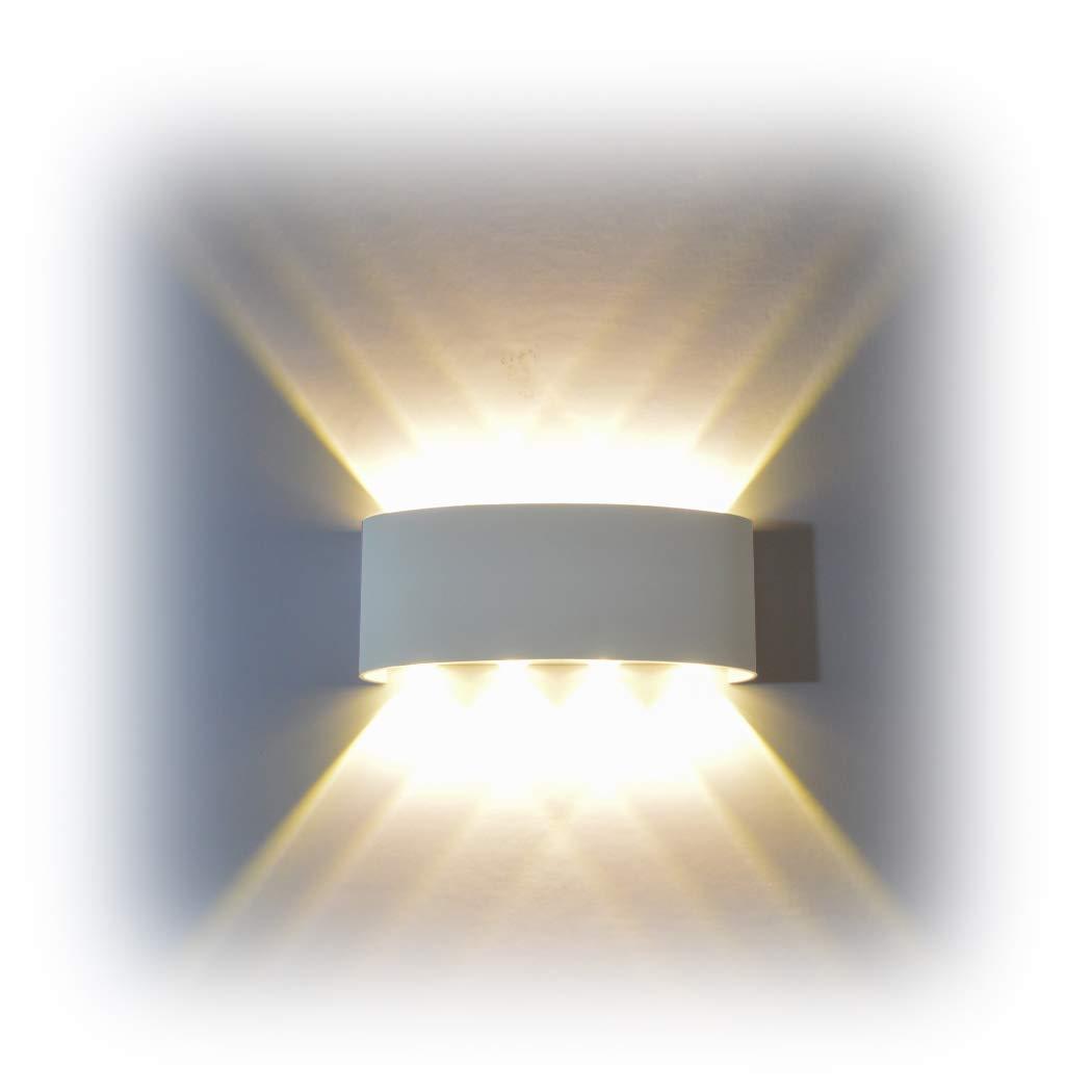 FLYDEER Wall Sconce Lights 8W Modern LED Wall Light Up Down Aluminium Wall Lights Wall Lamp Living Room Bedroom Corridor King-Rui