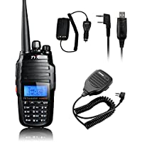 TYT TH-UV8000D Ultra-high Output Power 10W Amateur Handheld Transceiver, Dual Band Dual Display Dual Standby Two Way Radio+BF-S112 Mic+Program Cable+10W Car Charger Cable -Lightwish