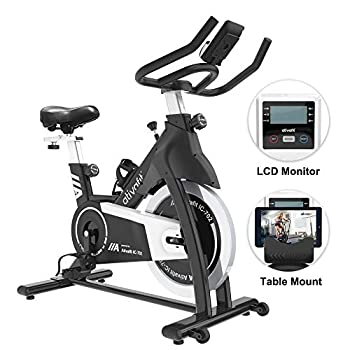 Image of ATIVAFIT Exercise Bike Stationary Indoor Cycling Bike 35 lbs Flywheel Belt Drive Workout Bicycle Training LCD Monitor/Ipad Mount/Adjustable Handlebar for Home Cardio Workout Exercise Bikes