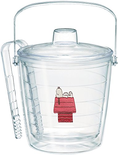 - Tervis 1067077 Peanuts-Snoopy Insulated Tongs with Emblem Lid-Boxed, 87oz Ice Bucket, Clear
