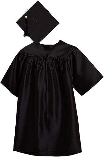 Unisex Kindergarten Kids Graduation Set Gown Cap Tassel Children Kids 2020 Preschool and Kindergarten Graduation Gown with Cap Childrens Nursery Graduation Gown and Cap