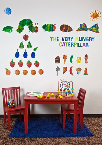 Oopsy daisy Eric Carle, 's The Very Hungry Caterpillar TM Peel and Place Childrens Wall Decals by Eric Carle, 54 by -