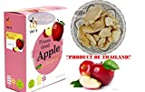 Crispy freeze dried fruit Apple Sweet and Sour Healthy Snack 100% all Natural Oil-Free 25 g. (0.88 Oz)