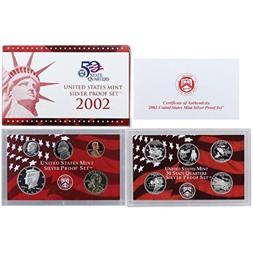 (2002 S U.S. Mint Silver Proof Set - 10 Coins - OGP Superb Gem Uncirculated)
