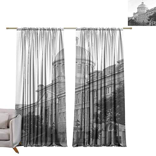 berrly Drapes for Dining Room Kingston, Canada City Hall W72 x L84 Art Room Curtains (Hall City Canada)