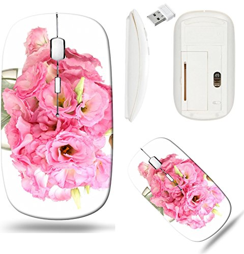 Liili Wireless Mouse White Base Travel 2.4G Wireless Mice with USB Receiver, Click with 1000 DPI for notebook, pc, laptop, computer, mac book IMAGE ID: 15104533 bouquet of eustoma flowers in vase isol