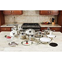 B&F Systems Ltd. 12-element Stainless Steel Cookware Set (28-piece)