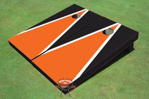 オレンジとブラックMatching三角形Corn穴ボードCornhole Game Game Set Set B00CMDF116 B00CMDF116, Villa Leonare:63411f2a --- gamenavi.club