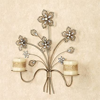 Amazoncom Touch Of Class Wall Sconce Candle Holders Metal Flower