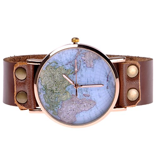 Zlyc unisex fashion world map classic golden edge leather strap zlyc unisex fashion world map classic golden edge leather strap round face wrist watch brown buy online in uae watch products in the uae see prices gumiabroncs Choice Image