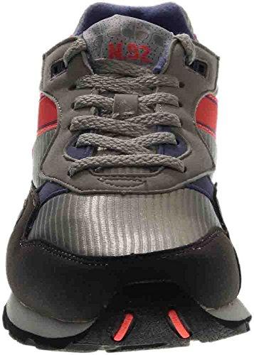 Diadora Männer N92 Skate Schuh Alaska Grey / Korsisches Blau
