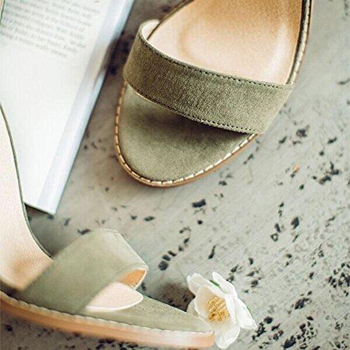 Sandalias ocasionales gruesas atractivas coreanas a