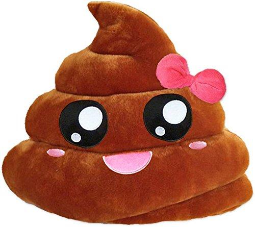 Emoji Words Fluffy Pillow Round 12