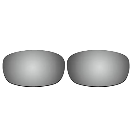 8c9e1a4047 Amazon.com  ACOMPATIBLE Replacement Titanium Polarized Lenses for Oakley  Square Wire 2.0 Sunglasses  Sports   Outdoors