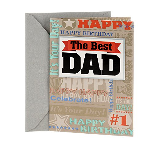 Hallmark Birthday Card to Father (Best Kind of Dad) (Happy Birthday To My Husband And Father)