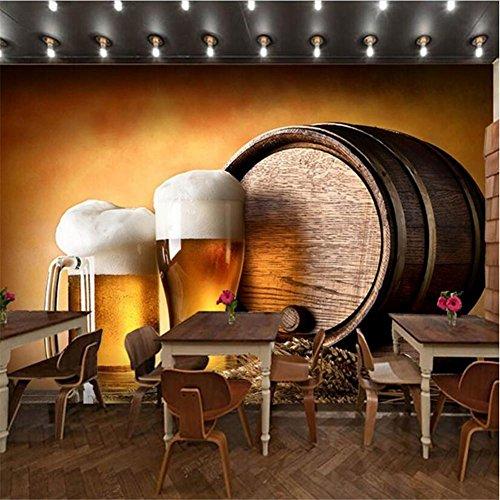 Wallpaper Beer Barrel Pattern 3D Customizable Mural Decoration Bar, A