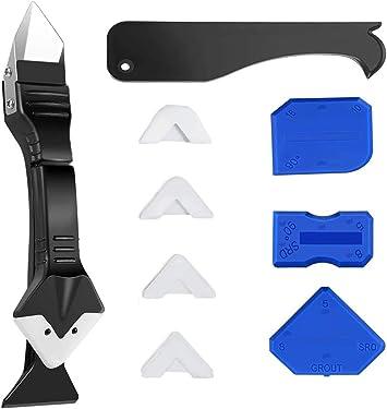 7 in 1 Silicone Caulking Tools(stainless steelhead) Sealant Finishing Tool Grou